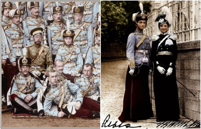 Мундирные платья российских императорских семей