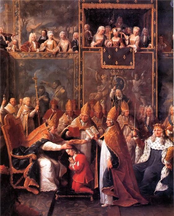 Коронация Людовика XV в Реймском соборе 25 октября 1722 года