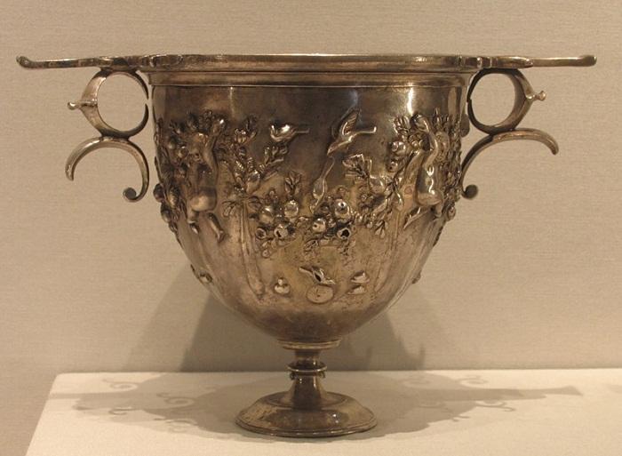 Римское серебро 1 в. до н.э. из коллекции Виллы Гетти в Малибу, штат Калифорния