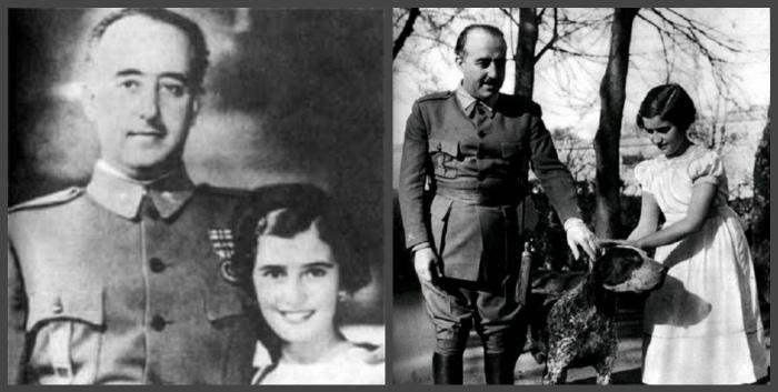 Генерал Франко с дочерью