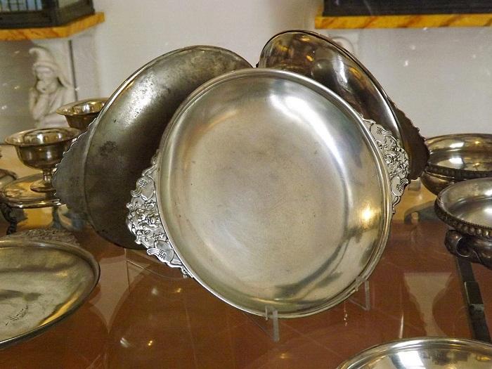 Античное столовое серебро из дома Менеандра, Помпеи. Национальный археологический музей в Неаполе