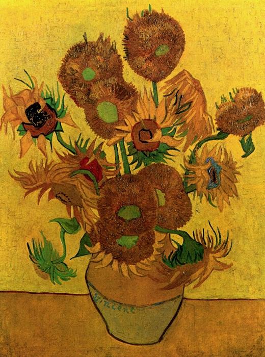 Ваза с пятнадцатью подсолнухами. Арль, август 1888. Холст, масло, 93х73. Национальная галерея. Лондон
