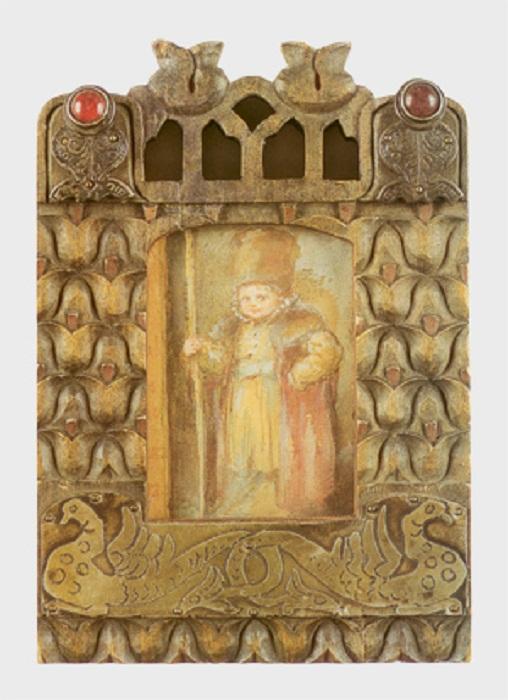 Акварель «Мальчик в костюме боярина» Е.Бём в авторской раме. Собрание ГРМ