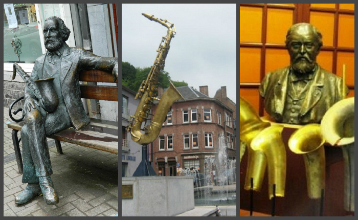 Памятники в Динане (Бельгия), в родном городе Сакса