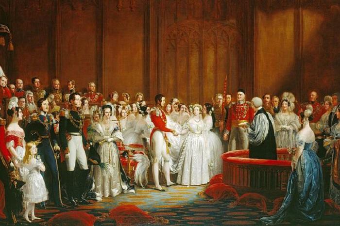 Свадьба королевы Виктории и принца Альберта, 1840 год