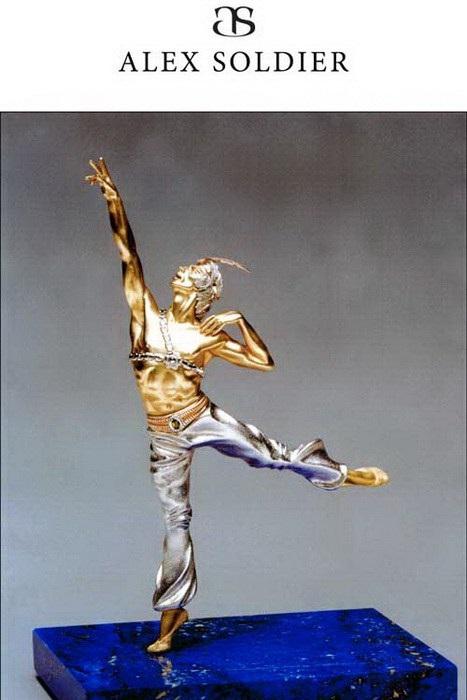 Рудольф Нуриев. Скульптурная миниатюра