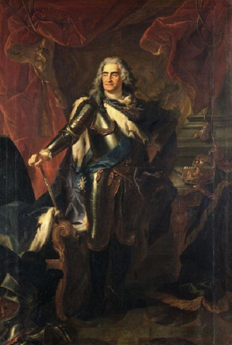 «Король Август II». Луи де Сильвестр. 1718.