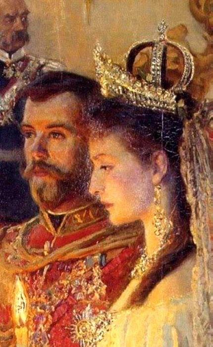 Венчание Александры Федоровны и Николая II 1894 год