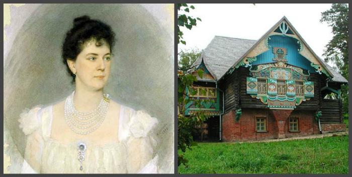 Портрет княгини М.К. Тенищевой (художник А.П. Соколов) и ее усадьба в Талашкино
