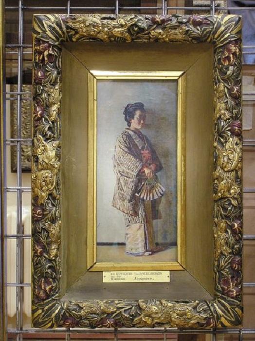 В. Верещагин. Японка. Авторская рама. 1900-е годы (ГРМ, Санкт-Петербург)