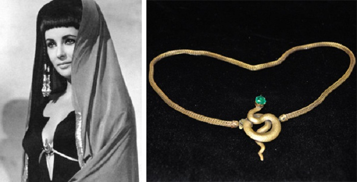 """Элизабет Тейлор в поясе «Змеи» от Джозефа. """"Клеопатра""""(1963)"""