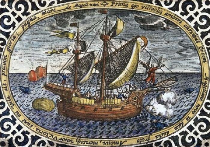 Уцелевший корабль из флотилии Магеллана возвращается домой