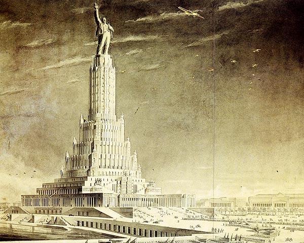 Так должен был выглядеть по проекту Дворец Советов.