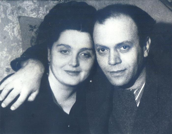 Давид Самойлов с женой Ольгой