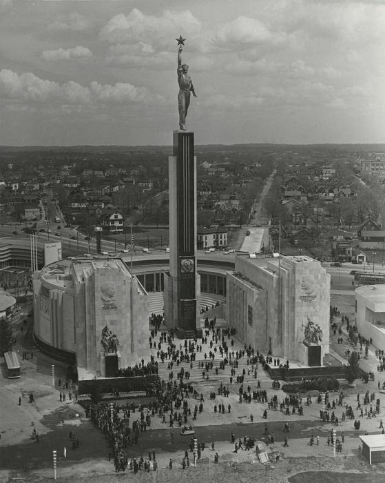 Павильон СССР в Нью-Йорке 1939 год