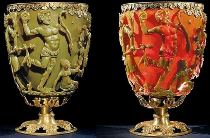 Горельеф на кубке Ликурга: разъяренный царь нападает на Диониса и его свиту. Фото с сайта britishmuseum.org