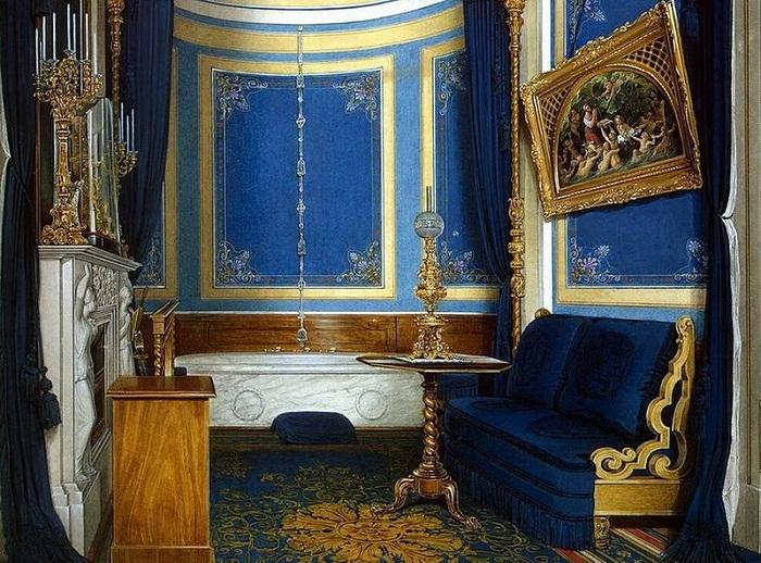 Э.П. Гау. Ванная великой княгини Марии Александровны, Эрмитаж