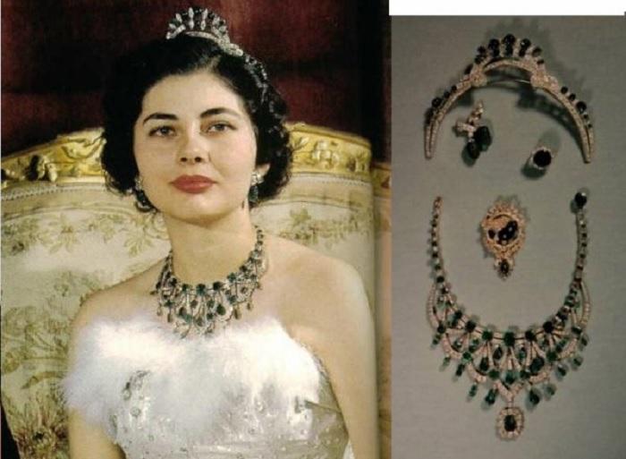 Изумрудная парюра иранской короны