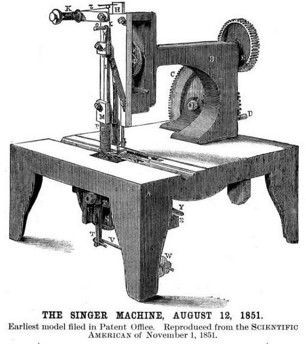 Первая машинка Зингера