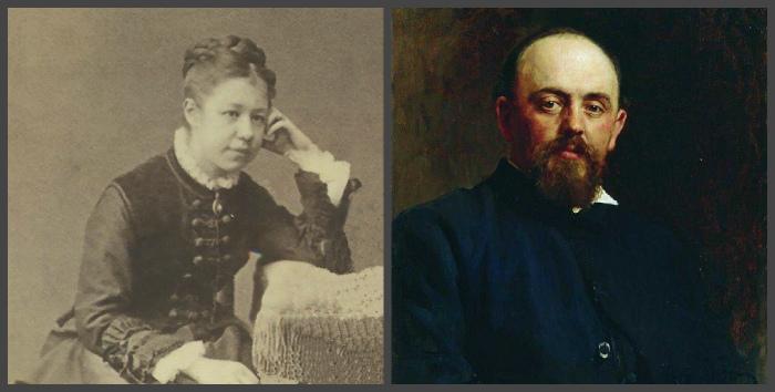 Елена Поленова и Савва Иванович Мамонтов (художник Илья Репин)