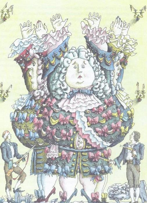 Три толстяка. Иллюстрация Михаила Бычкова