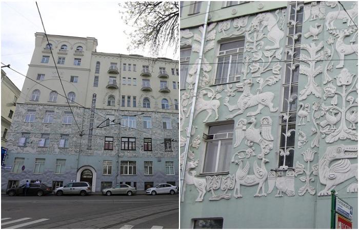 Каменные узоры московских домов: Дом со зверями