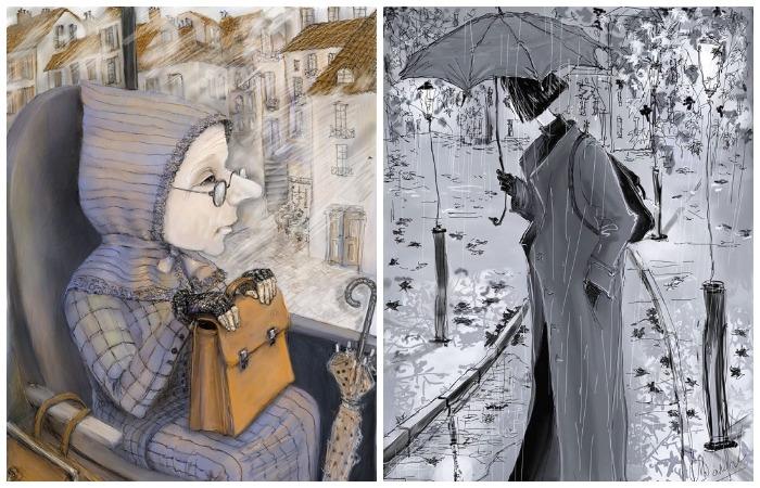 Городские осенние зарисовки Наталии Салбиевой