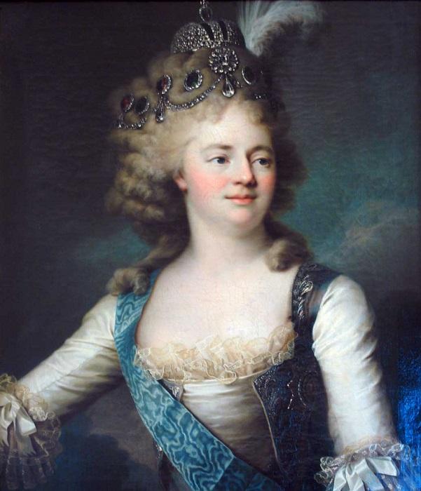 Портрет Марии Фёдоровны, жены императора Павла. Художник Жан-Луи Вуаль, 1790-е