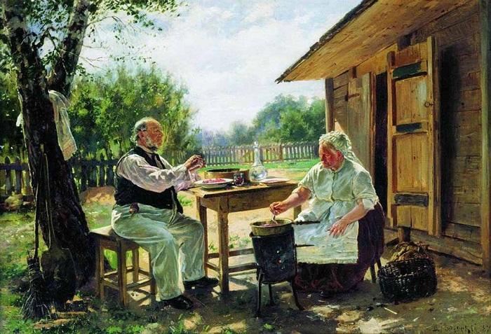 В. Маковский. Варка варенья