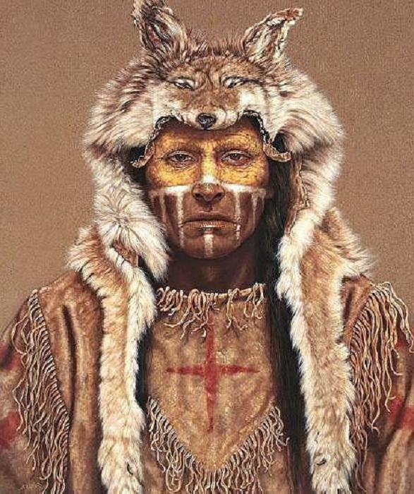 Индеец из племени волков