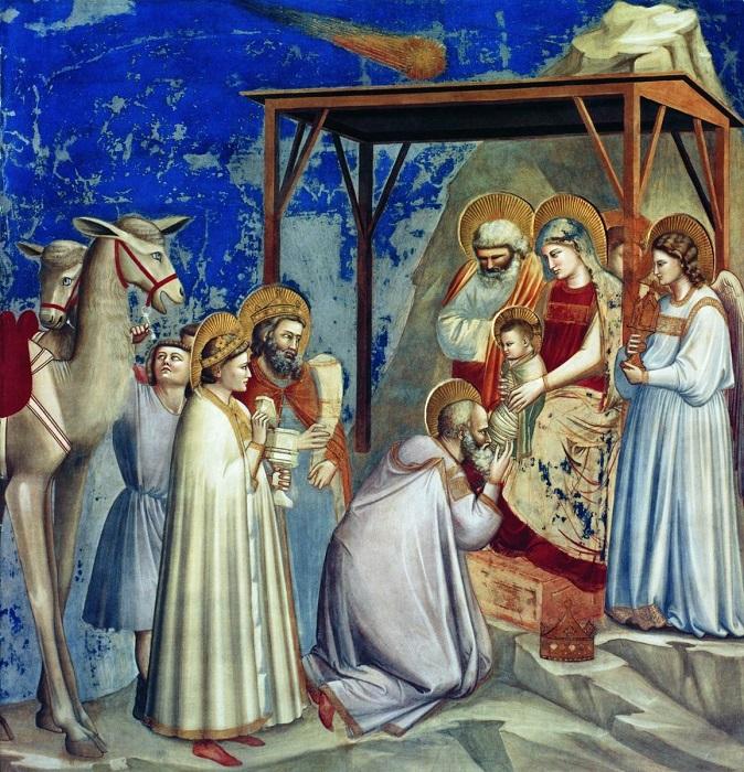 Джотто ди Бондоне «Сцены из жизни Марии: Поклонение волхвов»