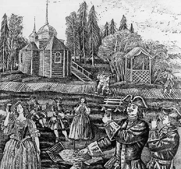 Первый российский курорт Марциальные воды (1719)