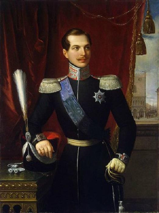 Н.Скьявони. Портрет великого князя Александра Николаевича 1838 г.