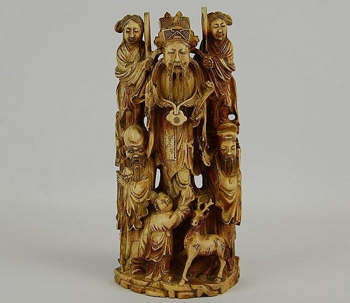Китайская династия Цин. Слоновая кость. Эпоха позднего периода Мин или раннего Цин