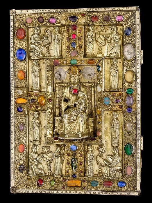 Драгоценный покров, Бертольдский сакраментарий , ок. 1215 г.