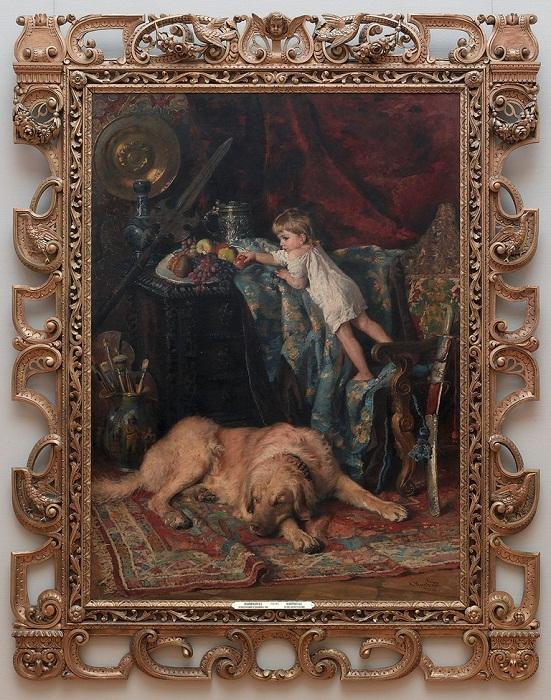 В мастерской художника (в авторской раме) Константин Егорович Маковский 1881