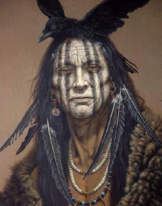Индеец из племени воронов