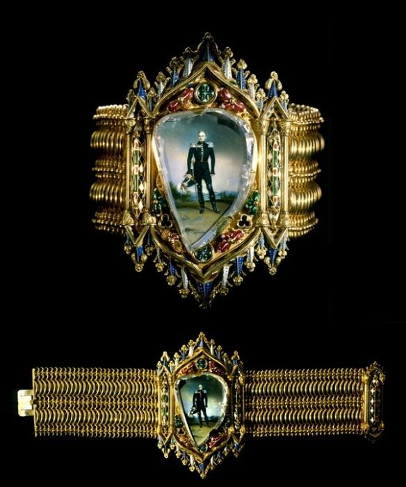 Браслет с портретом императора Александра I