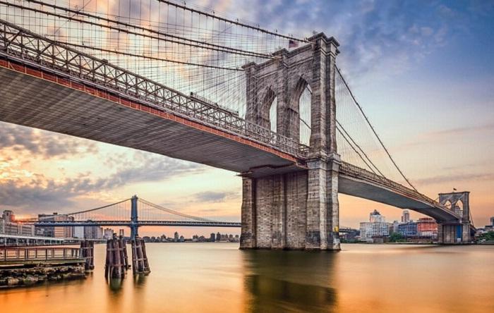 Бруклинский мост в Нью-Йорке<br>