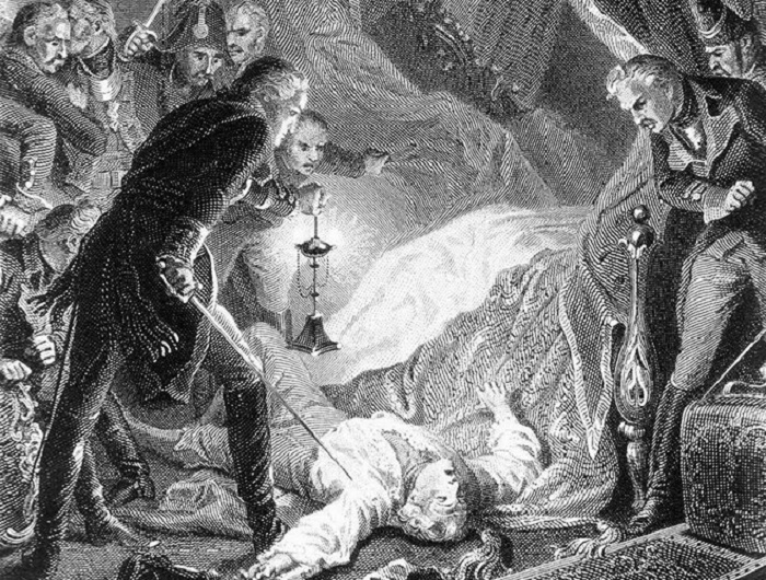 Убийство Павла I Гравюра Утвайта по рис Филиппото