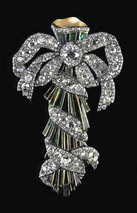 Портбукет. Бриллианты, золото, серебро, эмаль 13,5 х 8 см Около 1770 года