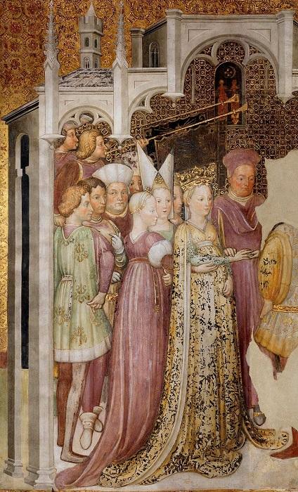 Изображение королевы Теоделинды (фреска Заваттари  1444 г.)