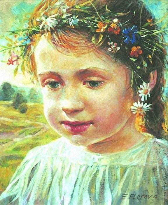 Елена Фролова Девочка в венке.