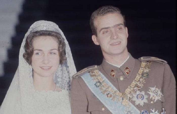 София Греческая в Прусской тиаре на свадьбе