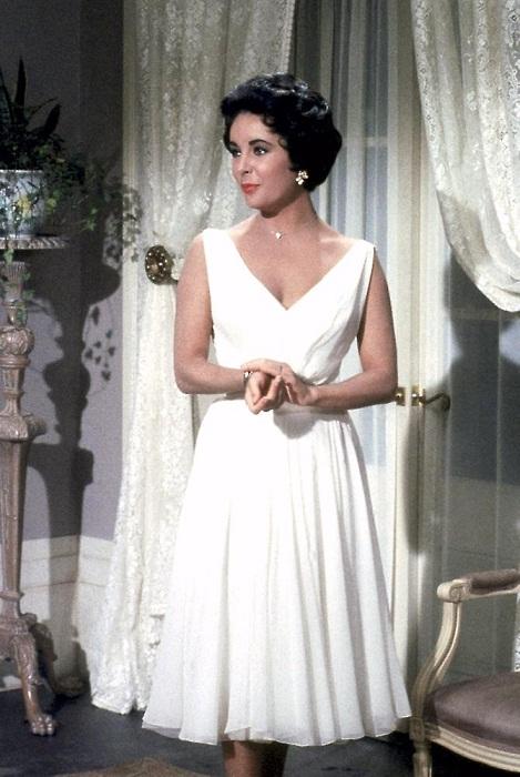 Белое платье Элизабет Тейлор