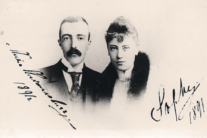 Михаил Михайлович Романов и София Николаевна Меренберг