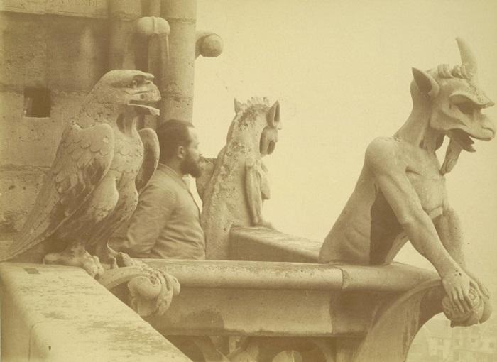 Химеры Нотр-Дама. Фото 1865 года