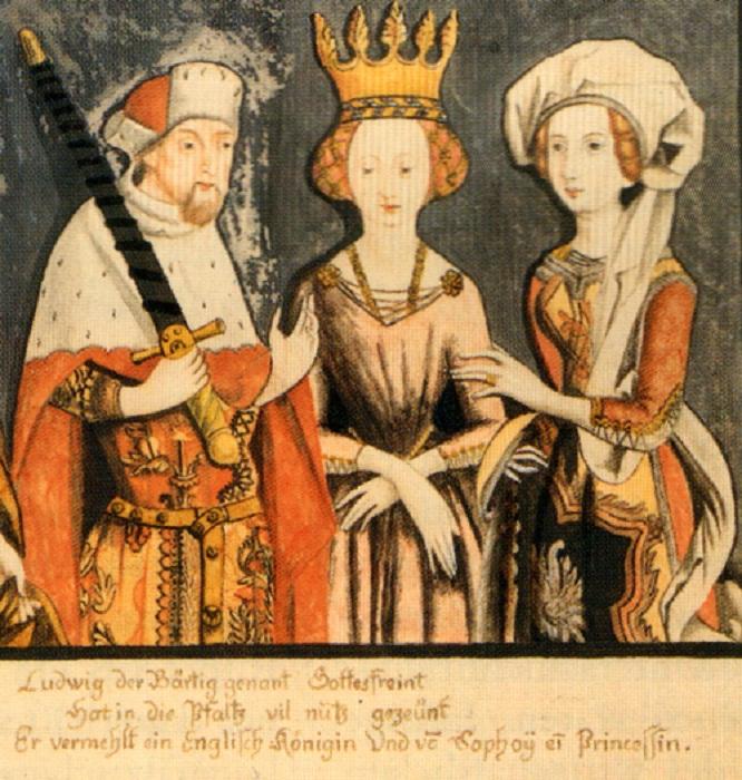 Бланж (в центре) со своим мужем