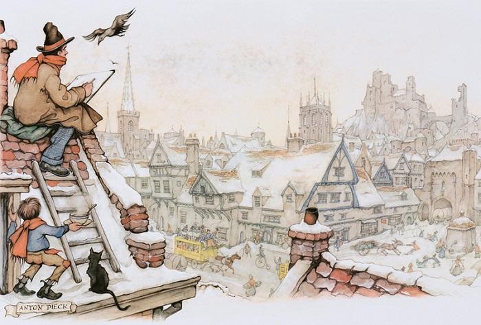 Художник на крыше