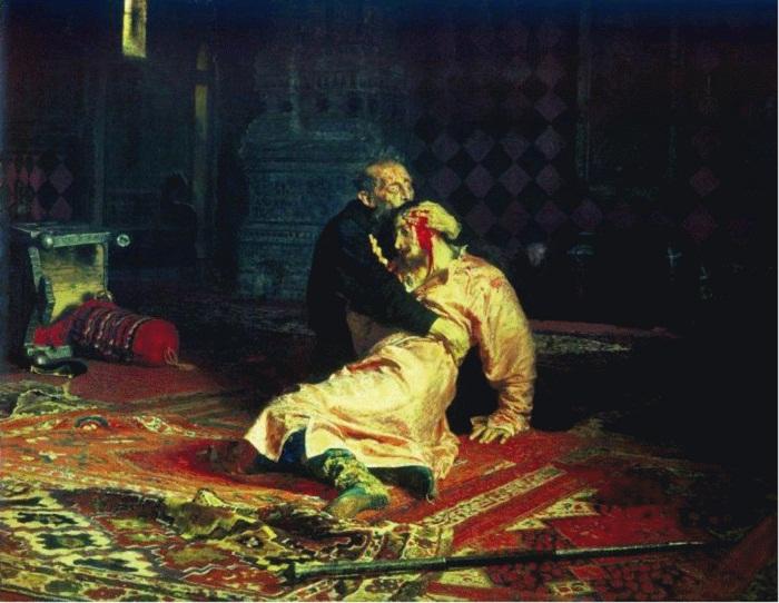 И.Репин.«Иван Грозный убивает собственного сына»